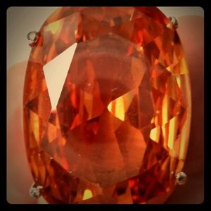 Large stunning vintage orange stone